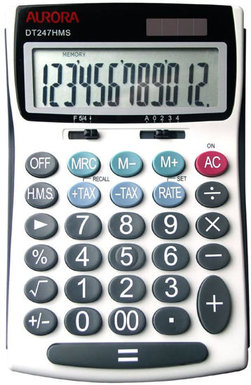 Picture of Aurora DT247HMS Desktop Calculator (with Time Calculations)