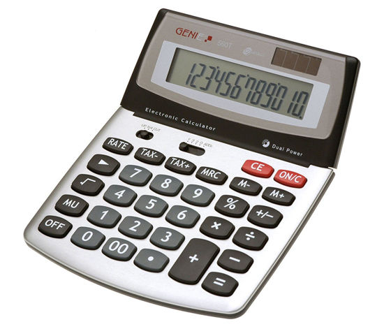 Picture of Genie 560T Extra-Large Desktop Calculator