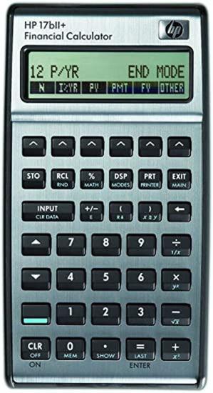 Picture of HP 17BII+ Calculator