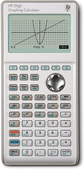 Picture of HP 39 GII Graphing Calculator