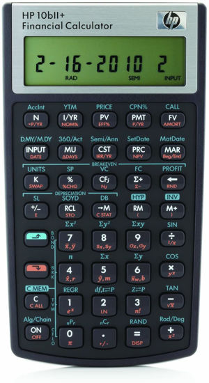 Picture of HP10bII+  Financial Calculator