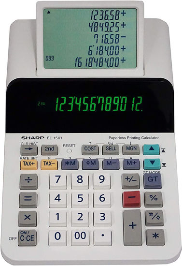 Picture of Sharp EL-1501 Paperless Printing Calculator