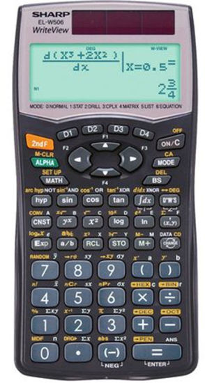 Picture of Sharp EL W506 B Writeview Scientific Calculator