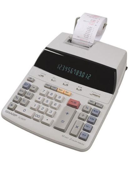 Picture of Sharp EL-1607P 12 Digit Flourescent Mains Powered Printing Calculator