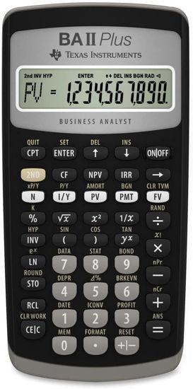 Picture of Texas Instruments  TI BA II + Financial Calculator