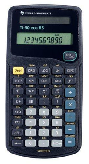 Picture of Texas Instruments 30 ECO RS Scientific Calculator