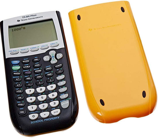 Picture of Texas Instruments 84+ Yellow Graphing Calculator