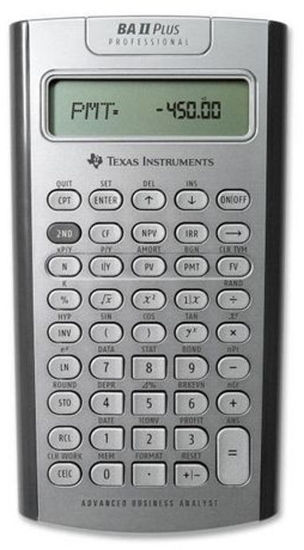 Picture of Texas Instruments BA ll PLUS Professional Financial Calculator