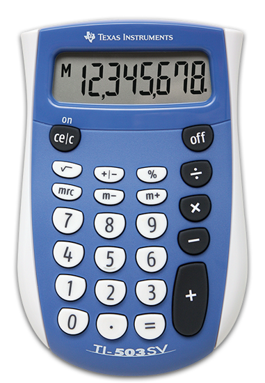 Picture of Texas Instruments 503 SV Calculator