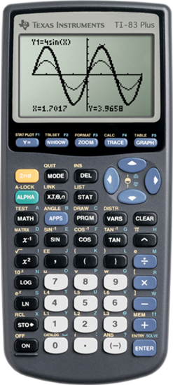 Picture of Texas Instruments 83 Plus Graphing Calculator