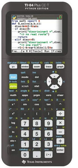 Picture of Texas Instruments 84 Plus CE-T Python Edition Calculator