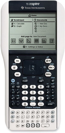 Picture of Texas Instruments Nspire with Touchpad and Software Graphing Calculator