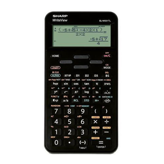 Picture of Sharp EL-W531TLB-BK  Writeview Scientific Calculator